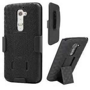 LG G4 HYBRID HOLSTER 3in1 Combo Phone Cover Case w/Kickstand & Belt Clip (Black)