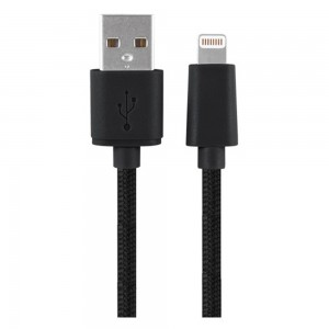 Xentris 8-Pin Charge/Sync Lightning to USB (6-Foot) Braided Cable - Black