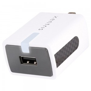 Xentris Universal 2.4 Amp Rapid SINGLE USB Port Travel/Wall Charger (w/out USB Cable)White