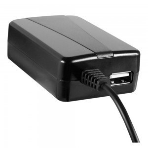 Xentris Universal 2.0A Rapid Micro-USB Travel/Wall Charger w/Attached Cord & w/Additional USB Port (Black)