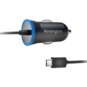 Kensington Universal 2.6A Rapid Micro-USB Vehicle Charger w/Attached Cord