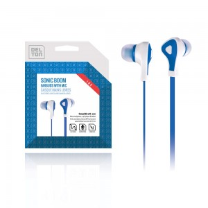 ECONO-Universal 3.5mm Sonic Boom 180 Earbuds (Blue)