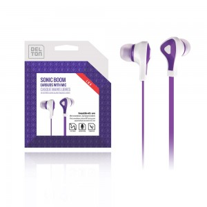 ECONO-Universal 3.5mm Sonic Boom 180 Earbuds (Purple)