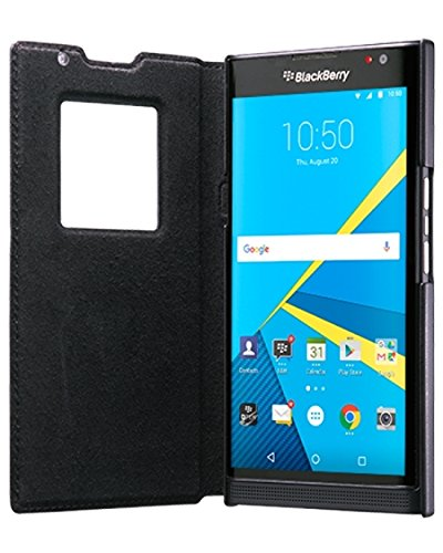 BlackBerry Leather Smart Flip Case for BlackBerry PRIV Black