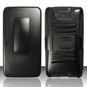 Premium Droid Maxx 2 [Heavy Duty] Combo Rugged Shell Cover Holster w/Built-in Kickstand & Belt Clip