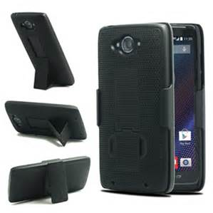 HYBRID HOLSTER 3in1 Combo Phone Cover Case w/Kickstand & Belt Clip For Droid Maxx 2(Black)