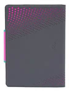 M-Edge - Sneak Folio for Small Devices in Gray/Pink