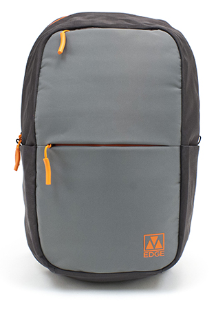 M-Edge - Tech Pack with 4000 mAh Built-In Battery Backup (Grey/Orange)