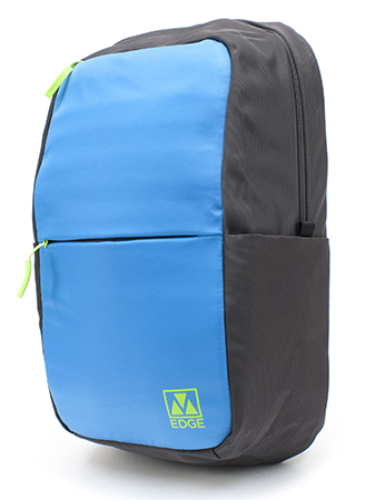 M-Edge - Tech Pack with 4000 mAh Built-In Battery Backup (Black/Aqua/Lime)