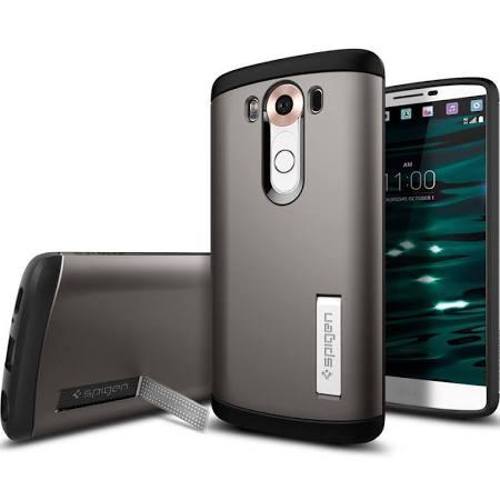 Spigen, Inc. - Slim Armor Case for LG V10 in Gunmetal