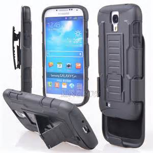 Premium Duo Armor Combo Case w/Stand and Belt Clip for Samsung Galaxy On5 (BLACK)