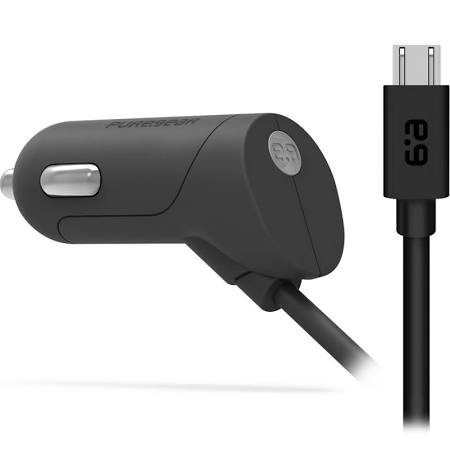PUREGEAR Universal 2.4Amp Micro-USB Vehicle Charger w/Attached Power Cord