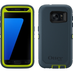 OtterBox DEFENDER Case w/Belt Clip For Samsung Galaxy S7 Meridian Green/Blue