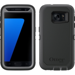 OtterBox DEFENDER Case w/Belt Clip For Samsung Galaxy S7 Gun-Metal