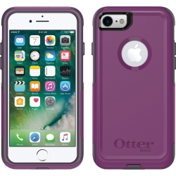 OtterBox COMMUTER Case For iPhone 7/8 In Plum Way (No Belt Clip)