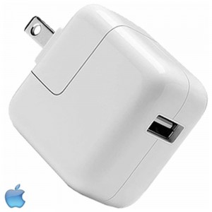 Apple OEM Universal 2.4 (12w) Amp SINGLE USB Port Travel/Wall Charger (w/out USB Cable) White (12w)