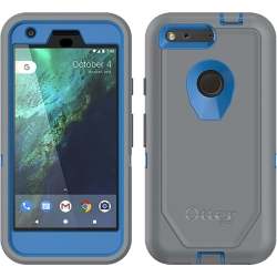 OtterBox DEFENDER Case w/Belt Clip for Google Pixel in Blue/Gunmetal Grey