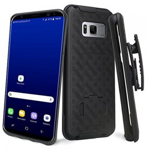 Premium FITTED Holster & Protective Shell Combo Kit w/Kickstand & Belt Clip (Galaxy S8 PLUS)