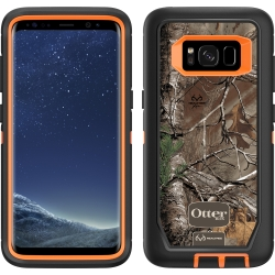 OtterBox DEFENDER Case w/Belt Clip For Samsung Galaxy S8 Orange/Black/RealTree Xtra