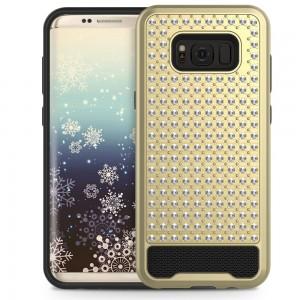 Xfactor Samsung Galaxy S8 Diamond Dual LayeredCover Gold/Black