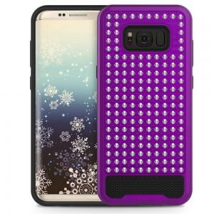 Xfactor Samsung Galaxy S8 Diamond Dual Layered Cover Purple/Black