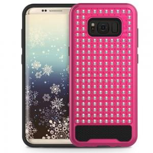 Xfactor Samsung Galaxy S8 Diamond Dual Layered Cover Hot Pink/Black