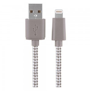 Xentris 8-Pin Charge/Sync Lightning to USB (6-Foot) Braided Cable - Beige