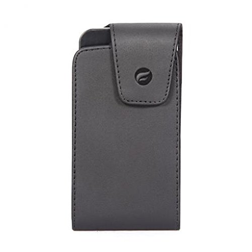 Premium Black Leather Case Cover Pouch Belt Holster Swivel Clip