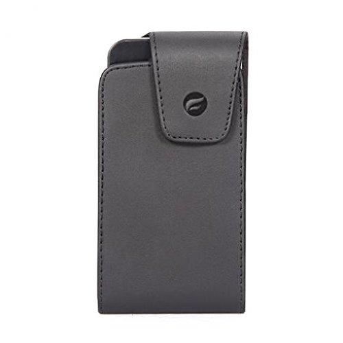 Premium Black Leather Case Cover Pouch Belt Holster Swivel Clip