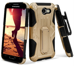 Premium Heavy Duty Shockproof Extreme Protective Cover With Holster - Gold/ Black