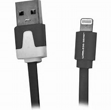 Econo-Univeral USB-A To Apple Lightning 8-Pin Sync & Charge (3-Foot) Cable, Flat Silicone Cable/Black