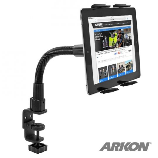 Arkon Heavy-Duty Table, Desk, or Wheelchair Tablet Clamp Mount with 12