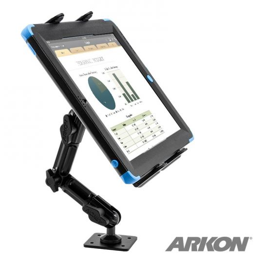 Arkon Heavy-Duty Tablet Wall Drill-Base Mount with 8