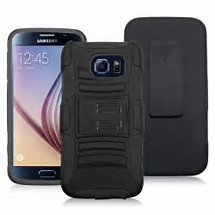 Premium Duo Armor Combo Case w/Stand and Belt Clip for LG K20 (BLACK)
