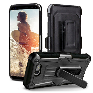 Premium Heavy Duty Shockproof Extreme Protective Cover With Holster - Black/ Black