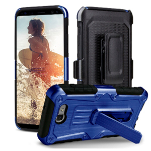 Premium Heavy Duty Shockproof Extreme Protective Cover With Holster - Blue/ Black