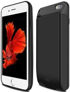 ICONIC iPhone 6/7 Portable Back Up Battery Extended 5000mAh Case (Black)