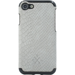 Candywirez Vegan Leather Case iPhone 6/7/8 Crocodile Suede Grey