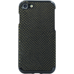 Candywirez Vegan Leather Case iPhone 6/7/8 Crocodile Black/Gold
