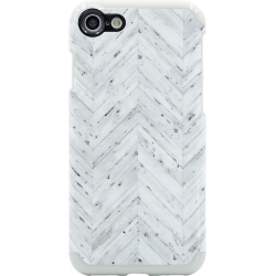 Candywirez Wood Case for iPhone 6/7/8 in White Wood Chevron