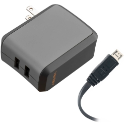 Ventev Travel Wall Charger, Dual 2.4 Amp Single port 110-220v Wall w/Deachable Micro-US Cable
