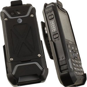 Premium Black Rotating Belt Clip Holster CASE with Stand for SONIM XP5 Phone (XP5700)