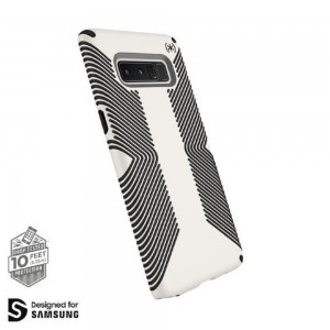 Speck - Samsung Galaxy Note 8 PRESIDIO GRIP Case – White/Black