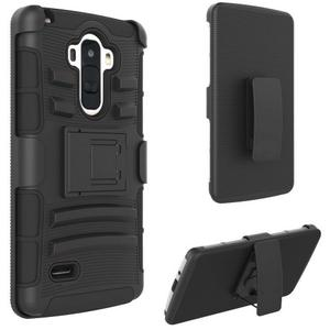 Premium Duo Armor Combo Case w/Stand and Belt Clip for Fierce XL/Windows (BLACK)