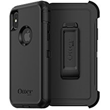 OtterBox DEFENDER Case w/Belt Clip For Apple iPhone X Black