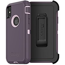 OtterBox DEFENDER Case w/Belt Clip Apple iPhone X Purple Nebula