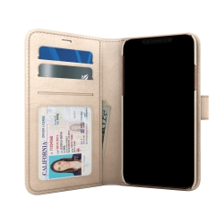 Skech - Polo Book Case For Apple iPhone X in Champagne
