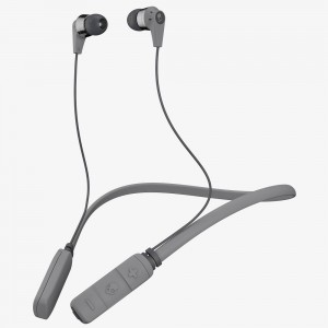 SkullCandy Ink'd Bluetooth Wireless Earbuds- Black/Gray/Gray