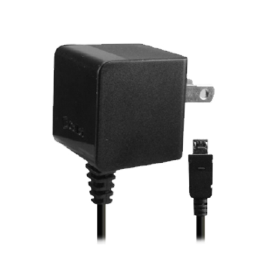 Cellet Cube Travel Wall 1.0Amp Charger w/Attached Micro USB Cable (Black)