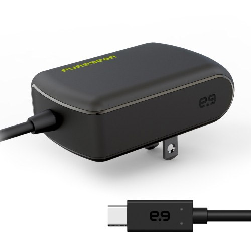 PureGear 3.0Amp/15W Travel/Wall Charger For USB Type-C w/Attached Cable